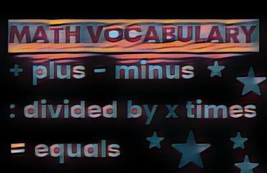 Math Vocabulary Istilah Kosakata Matematika dalam Bahasa Inggris