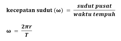 Rumus Matematis Kecepatan Sudut