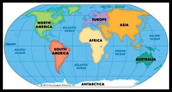 Asal Usul Pembentukan Benua Letak Astronomis Batas Geografis Asia Afrika Amerika Utara Amerika Selatan Eropa Australia Antartika